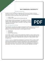 Why Nebraska University