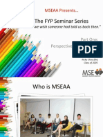 FYP Seminar 2013 August