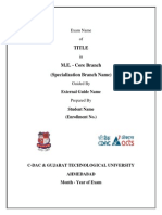 Titlepage Format