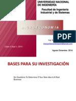 Clase 3 Bases Para Su Investigación Sept 1 2014
