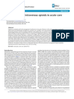 Clinical Review of Intravenous Opioids in Acute Care