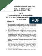 Edital Selecao PPEE