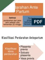 Perdarahan Ante Partum ( APH )