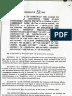 Cleco Settlement Ordinance