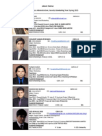 Group Profile for MBA Project