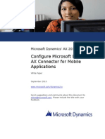 Configure Microsoft Dynamics AX Connector for Mobile Applications