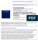 The Fractured WE and Ethno-national I - The Macedonian Citizenship Framework