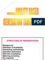 Availabilty Based Generation Tariff