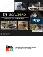 Goal Zero Catalog & Video (Espanol) - SINAPROC