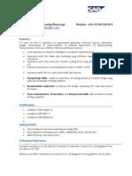 RITS ITStaff SAP ABAP Resume Bhaskar Reddy