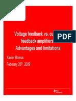 Current Feedback vs Voltage Feedback Amplifiers