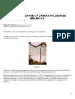 Cracks Low Rise Buildings