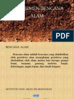 Manajemen Bencana Alam