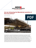 Are We Witnessing the Macedonian Question of the 21st Century