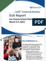 Lee County School District Exit Report