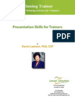 Presentation Skills for Trainers