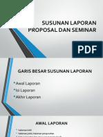 Susunan Laporan Proposal Dan Seminar