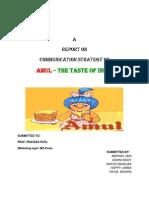 19357876 Project Report on Amul Sec b