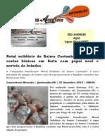 Natal Solidário Do Bairro Castanho Entrega 45 Cestas Básicas Em Festa Com Papai Noel e Sorteio de Brindes