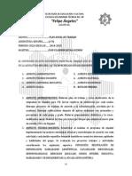 Plan de Trabajo Español 2014