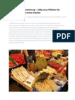 Lebensmittelkennzeichnung – Völlig neue Pflichten für Gastronomen und Online-Händler