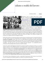 Operaismo italiano e realtà del lavoro postfordista