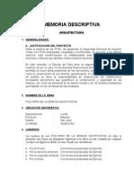 Memoria Descriptiva Arquitectura -Iquitos
