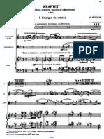 Messiaen, Olivier - Quatuor Pour La Fin Du Temps
