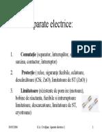 Aparate electrice de comutatie