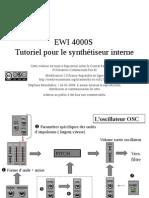 EWI Programmation Synth