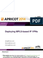 Apricot2014 - Deploying Ip Mpls Vpns