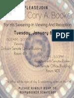 Senator Booker Swearing-In Invitation 2015