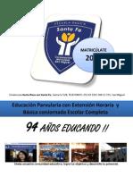 Afiche Promo Escuela santa fe