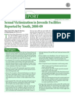 U.S. DOJ Report on Sexual Victimization in Juvenile Facilities 2010