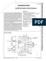 ADC0808/ADC0809 8-Bit μP Compatible a/D Converters With