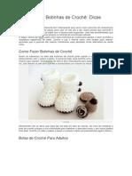 Como Fazer Botinhas de Crochê