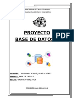 Proyecto Base de Datos 1