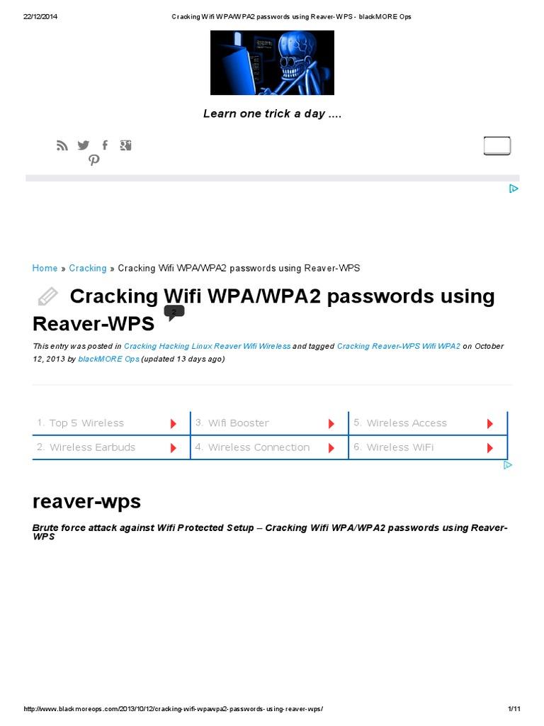Reaver Wps