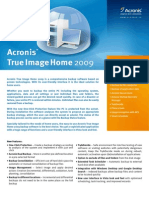 Datos Acronis True Image Home 2009