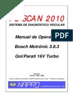 Gol e Parati 1.0 16v Bosch Motronic 3.8.3 - VW