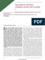 Amphiphilic Organosilane-directed Synthesis of Crystalline Zeolite With Tunable Mesoporosity