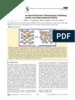 Au-TiO2 Superstructure-Based Plasmonic Photocatalysts Exhibiting Efficient Charge Separation and Unprecedented Activity