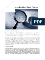Akuntansi Forensik Dalam Kasus Century