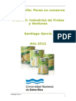 "Monografia ""Conserva de Peras"""