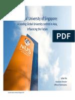 2013 NUS University Talk