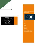 Introducción a La Filosofía y Antropología Filosófica