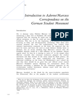 Esther Leslier - Introducrion to Adorno-Marcuse Correspondence on the German Left Movement