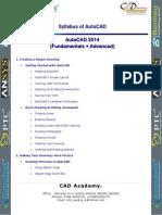 Syllabus_AutoCAD 2014