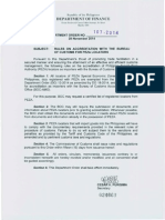 DOF order 107-2014 BOC Accreditation for PEZA Locators