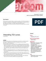 DT_USERCOM, Interpreting TGA Curves